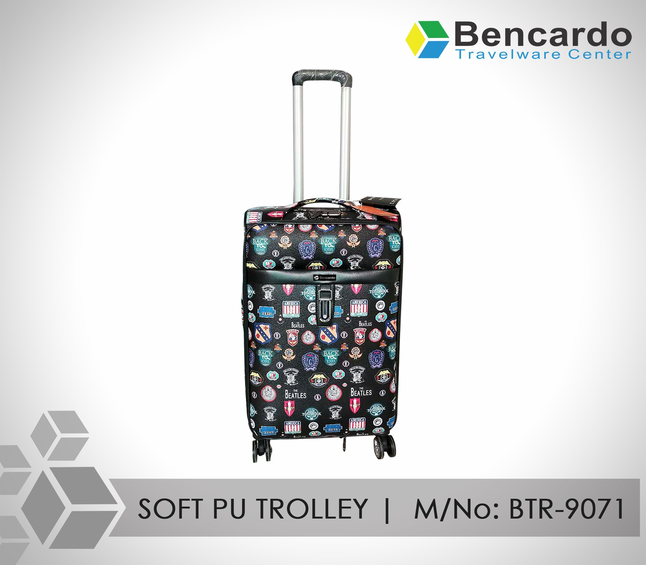 SOFT PU TROLLEY LUGGAGE-4 WHEELS-BTR-9071