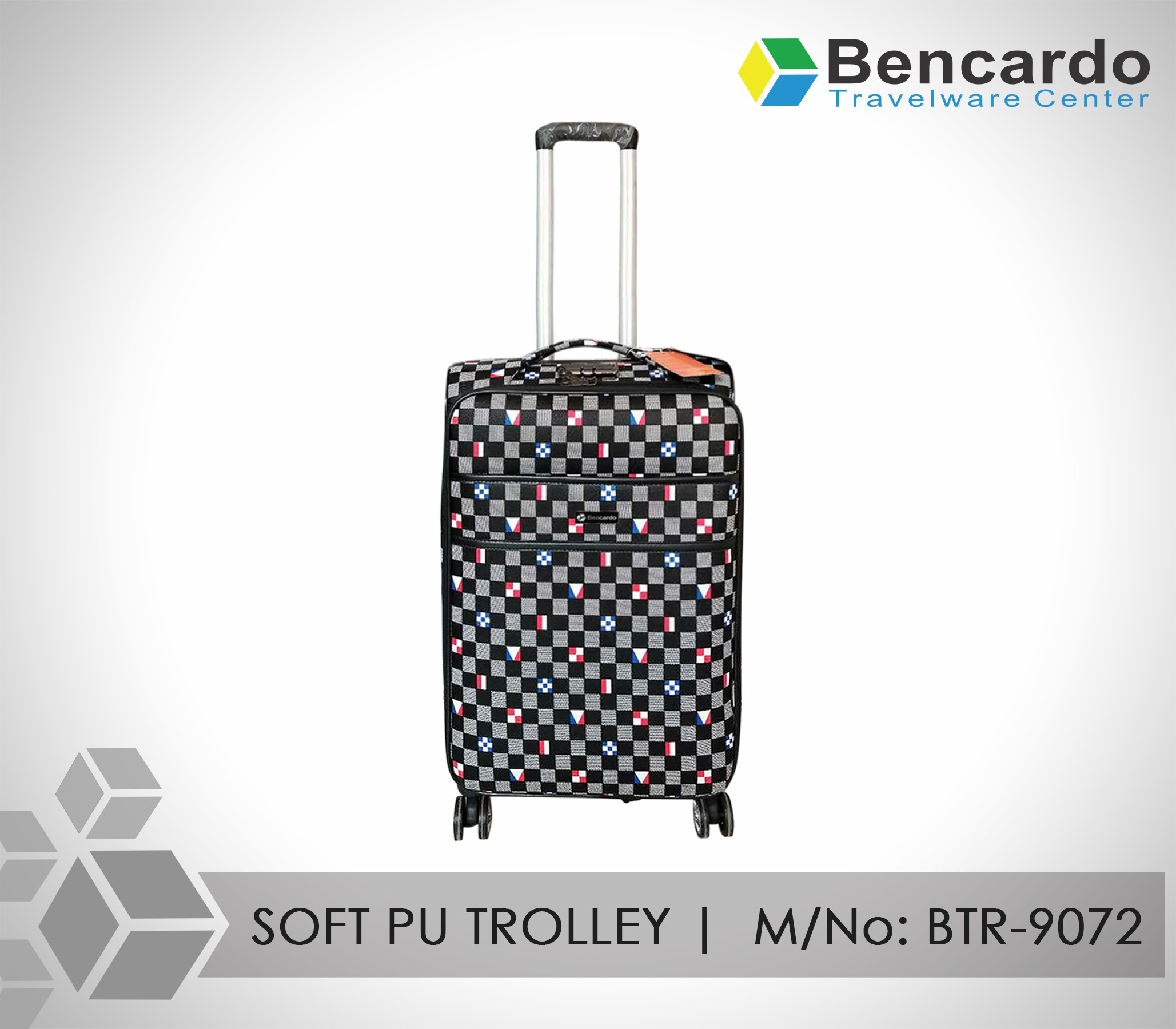 SOFT PU TROLLEY LUGGAGE-4 WHEELS-BTR-9072