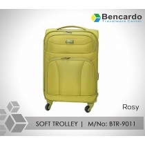 SOFT TROLLEY LUGGAGE-4 WHEELS-BTR-9011 (Rosy)